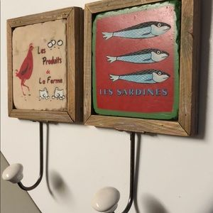 Two world market picture hooks